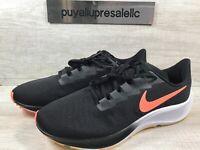Men's Nike Air Zoom Pegasus 37 Running Black/Bright Mango BQ9646-010 Size 11.5