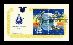 DR JIM STAMPS US SPACE SHUTTLE FIRST DAY ISSUE BLOCK KENNEDY SPACE CENTER COVER