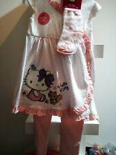 Completo neonata hello Kitty 18 / 24 mesi tunica calze leggings abbigliamento