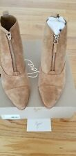 JOIE  ELLIS Chelsea Chestnut suede ankle zip boots size 8 new with box $355