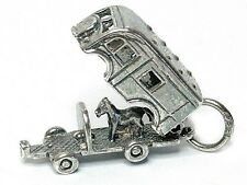 VINTAGE SILVER OPENING HORSE BOX CHARM