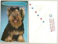 "Humorous Yorkshire Terrier Yorkie Dog Googly Eyes Greeting Card ""I'm in Heat !"""