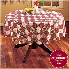 Rustic Decor For The Home Country Hearts Stars Kitchen Ideas Round Tablecloth