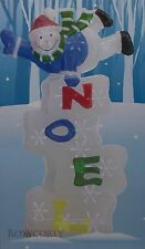 """Christmas Holiday Home LED Twinkling Noel Snowman Battery Operated 29"""" H NIB"""