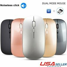 Bluetooth +2.4G Wireless Mouse Optical Mice for PC Mac Android IOS Tablets 2Mode