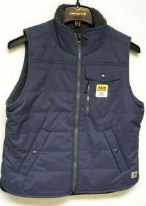 Carhartt 103907-BLS Women's Rain Defender® Sherpa Lined Reversible Vest
