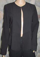 NWT Women's Dunnes Buttonless Career Business Black Blazer Jacket Size 10
