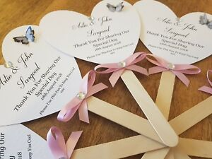 Personalised Hand Fans, Wedding Fans, Wedding Favours, Wedding Gifts