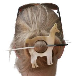 Alpaca Shaped Shawl or Hair Pin, Alpaca Brooch REDUCED PRICE!