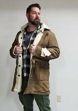 Leather Shearling Brown Trench Coat/Jacket Bane Batman XL