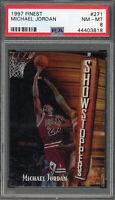 Michael Jordan Chicago Bulls 1997 Topps Finest Basketball Card #271 Graded PSA 8