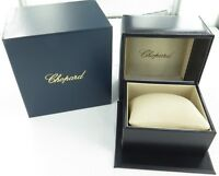 .CHOPARD BLACK LEATHER WATCH DISPLAY BOX & OUTER. SUPERB CONDITION.