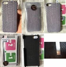 HANDMADE 100% GENUINE SNAKE PYTHON PURPLE BELLY LEATHER iPHONE 5/5s COVER CASE