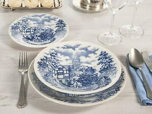 SALE! ENGLISH DINNER 18 Piece Ceramic Porcelain Dining Dinner Service Set Plates