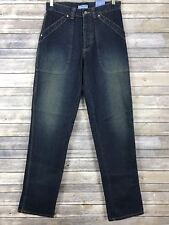 Vtg Kenneth Cole Reaction Dirty Wash Blue Jeans Button Fly Size 32 X 32 NWT 90s