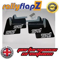 rallyflapz Subaru Impreza Hawkeye (06-07) Schmutzfänger Satz schwarz Sti weiß