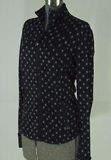 Lululemon Define Jacket Size 8 Ghost Dot Black Slate Running Vented Cuffins