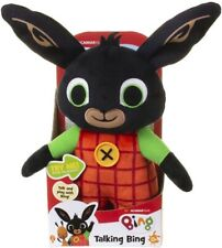 "Huggable Talking BING Bunny 30cm / 12"" Interactive Toy - Brand New"