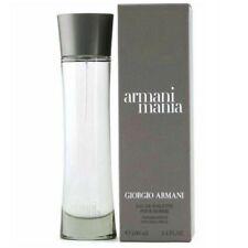 Armani Mania By Giorgio Armani EDT 3.4 oz /100ml Eau De Toilette Spray Men RARE