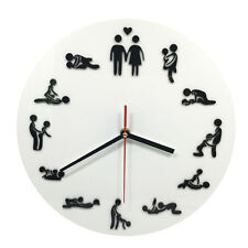 24Hours Sex Time Clock Sexual Position Wall Clock Unique Home Decor Make Love