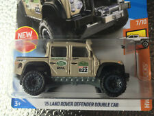 2018 Hot Wheels '15 Land Rover Defender Double Cab (Tan) Hot Trucks #7 #31 New