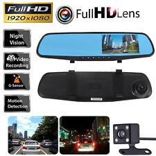 New listing Hd 1080P Car Rearview Mirror Dvr Dual Lens Video Dash Cam Camera Night Vision
