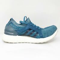 Adidas Womens Ultra Boost X BB1978 Blue Running Shoes Lace Up Low Top Size 8