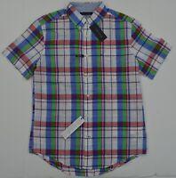 Mens' Linen/cotton Short Sleeve Summer/Casual/Loose Dress Shirt M