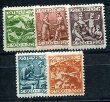 ÖSTERREICH 1924 442-446 * SATZ WOHLFAHRT (09551