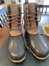 G.H. Bass Duck Boots Waterproof Snow Rain Leather Rubber Tan/Brown Mens Sz 8