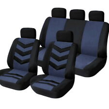 9pcs/Set Sports Auto Car Seat Cover Full Front Seat Mat Pad Protector Blue New