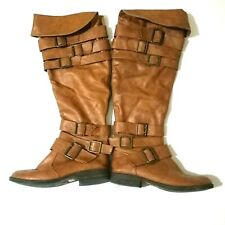 Brown boots. Over the knee boots. JUST FAB. SIZE UK 7