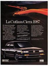 1987 OLDSMOBILE Cutlass Ciera Vintage Original Print AD - Black car photo Canada