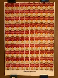 ANDY WARHOL 100 CAMPBELL'S SOUP CANS LITHOGRAPH 1987 MAZZOTTA POSTER RARE!!