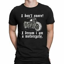 I Dont Snore! I Dream I Am A Motorcycle Mens ORGANIC Cotton T-Shirt Motorbike