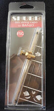 New Shubb FSG GOLD plated Fifth String Brass Banjo Capo, NIB Free Shipping