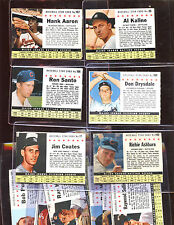 1961 Post Cereal Baseball Card Lot 12 Different VG/EXMT