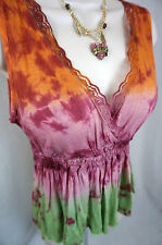 Daytrip Top Size Small The Buckle Bke Tie Dye Sleeveless Womens Shirt S