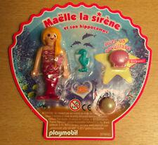PLAYMOBIL PLAYMO FIGURINE DE MAGAZINE MAELLE LA SIRENE ET HIPPOCAMPE PERLE