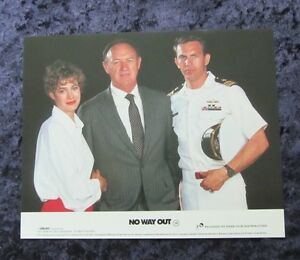 NO WAY OUT lobby cards KEVIN COSTNER, SEAN YOUNG, GENE HACKMAN (1986)