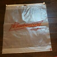 "4 Pack Budweiser Clear Plastic Gusseted Bag w/ Drawstring 15"" x 19"" x 3"""