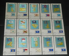 U.S.1976 State Flags set of 50 Colorano first day cancel Maximum Cards