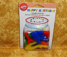 Happy Birthday Pick Candles(Spells the words,Wilton,Multi-Color,Cake Decoration,