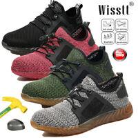 Mens Work Safety Lightweight Shoes Indestructible Steel Toe Bulletproof Sneakers