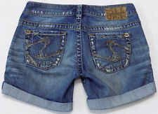 Silver Jeans Co Tuesday Cutoff Denim Shorts Womens Size 26