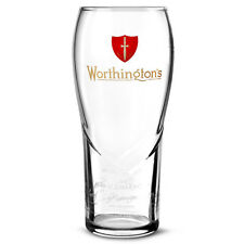 WORTHINGTONS PINT GLASS ALES OF CHARACTER ETCHED SIGNATURES NEW x2