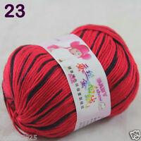 Sale 1 Skein x50g Baby Cashmere Silk Wool Children hand knitting Crochet Yarn 23