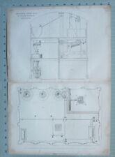 1847 Ingénierie De Imprimé Amélioré Coquelicots Moulin Par William Fairbairn