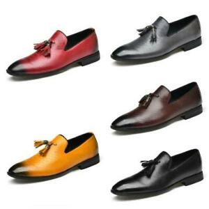 38-50 Mens Dress Formal Business Leisure Shoes Tassels Pointy Toe Oxfords Chic L