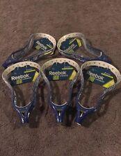 NEW Reebok Lacrosse 6K HEAD Is UnStrung Blue  & White Lot Of 10 Heads